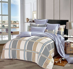 cozy and warm home textile100% Cotton Reactive Dying Luxury Bedding Set with pillow case
