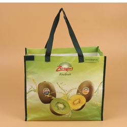 recyclable customized vegetable wholesale shopping promotional organic pp laminated non woven tote bag