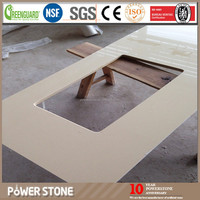 Low Price White Mirror Fleck Quartz Stone Kitchen Countertops with Good Quality