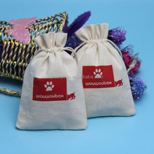 Yuanjie wholesale low price unbleached white cotton calico drawstring bag cotton calico fabric bag from China Shenzhen supplier