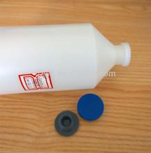 500ml, pe, la vacuna de plástico para la botella para vacunas veterinarias con tapa de goma