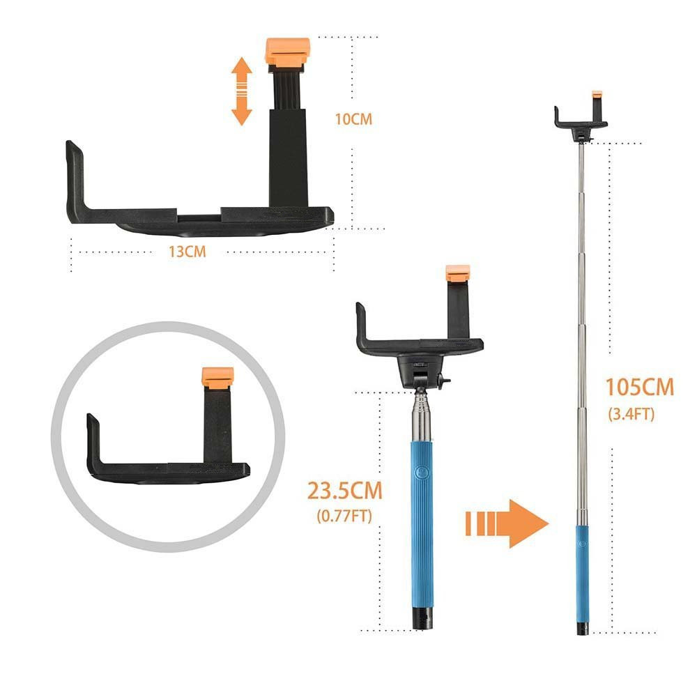 new selfie stick with tripod cell phone monopod pole remote for iphone android buy selfie. Black Bedroom Furniture Sets. Home Design Ideas