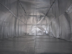 Reflectix PE aluminum foil container liners of thermal isolation
