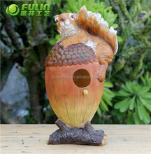 "Resin Bird House ""Squirrel on the pinecone"" 31*20*28.3cm"
