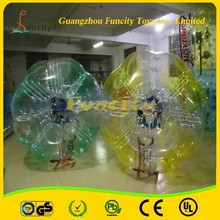 PVC/TPU material 0.8mm tickness for kid and adult Human Sized Soccer Bubble Ball/Inflatable Bumper Ball/soccer bubble