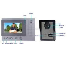 Wireless video door phone intercom system with remote door release
