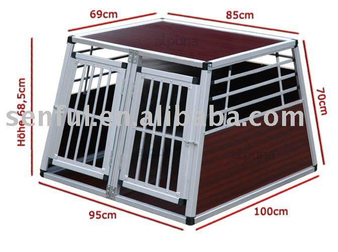 scatola di alluminio alluminio gabbia hunde box canile