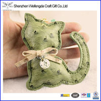 Exquisite Cat Shape Bag Pendant Animal Leather Keychain