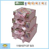 Flower Pattern Luxury Beauty Bow Tie Storage Box
