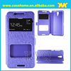 two window smart case for HTC 820mini, case with stand function, factory wholesale price