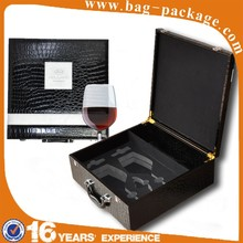 Wine drinking glass product leather custom christmas different types gift packaging box