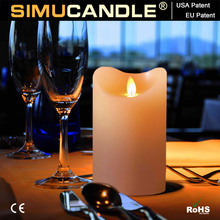 LED window candle with moving flame and taper candle, with USA Patent