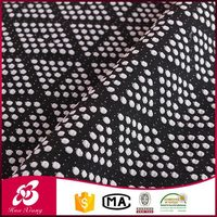 2016 High quality 10 years experience 95 cotton 5 lycra dotted fabric wholesale