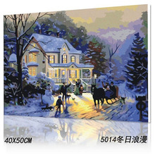 handmade oil painting wall art cheap oil painting by number 5014