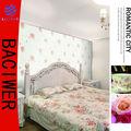 2013 novo Coreia do estilo quarto de espuma floral parede papel
