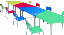 Cheap Childhood School Furniture Colorful Kids MDF Desk Mordern Ergonomic Table and Chair