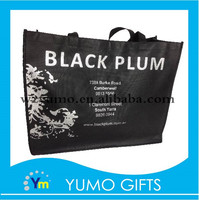 vogue black print non woven bag silver hotfoil design