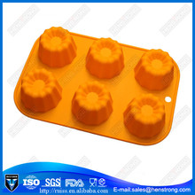 Fancy halloween pumpkin shape Silicone Cake Cup Molds