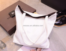 New Vintage Women' Bag For Shopping Simple Handbag Totes PU Shoulder Bag