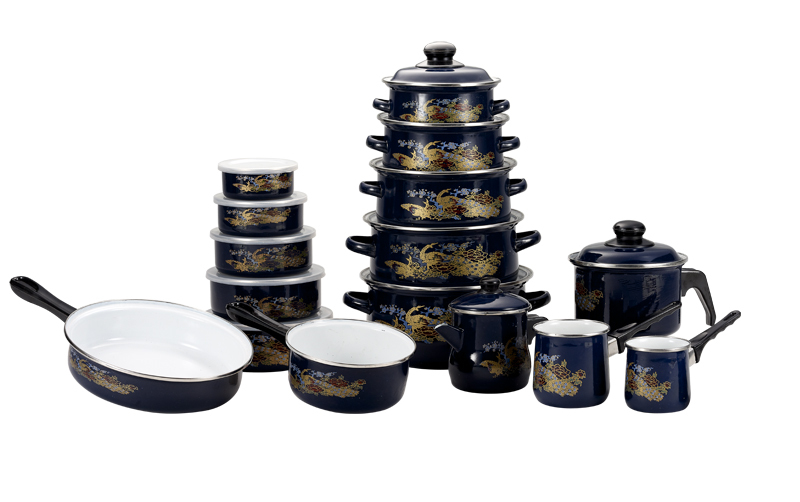 hot sales non-stick enamelware set enamel cookware set