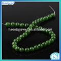 popular 2014 natural de color verde oscuro de jade teñido de suerte pulsera de cuentas de venta al por mayor