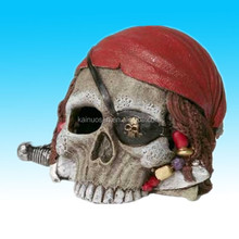cute skull home decoration resin product