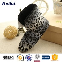 Fashion cashmere home long high neck shoes for men