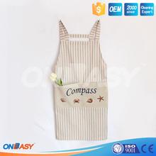 Zhejiang wholesale classic chef works waist cotton apron for kicthen