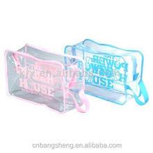 2014 Manufactory Clear Transparent pvc advertisement bag with zipper