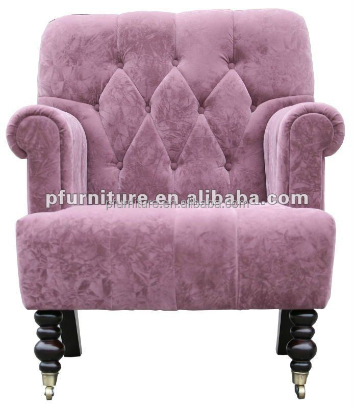Lovely Pink Living Room Single Wooden Sofa Chair - Buy Sofa Chair