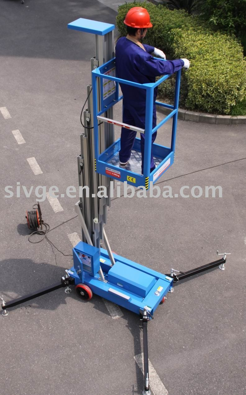 Small Hydraulic Lift Platforms : Hydraulic small lifting platform with working height m