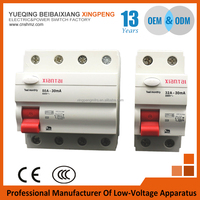 Circuit breaker manufacturer 2pole 16A 30mA house hold type residual current circuit breaker