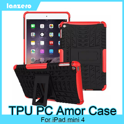 Colorful TPU PC Hybrid Armor Case For iPad Mini 4 Shock&Bump&Scratch-Resistant,Best Protector for Tablet
