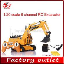 1:20 scala 6 canali Double Eagle escavatori rc super potenza camion costruzione di veicoli