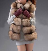 к 2015 году новых моды енота мехом жилет мех реальных енот жиле енот талии Шуба