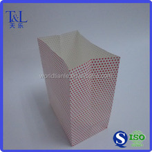 Cute pink coating paper candy bag, square bottom paper candy bag