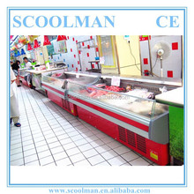 Top Open Refrigerated Fresh Meat Display Counter