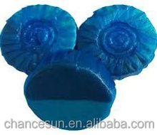 blue round solid toilet cistern block