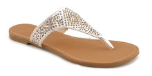 Latest Design Fashion and Shiny Flat Sandals for Girls