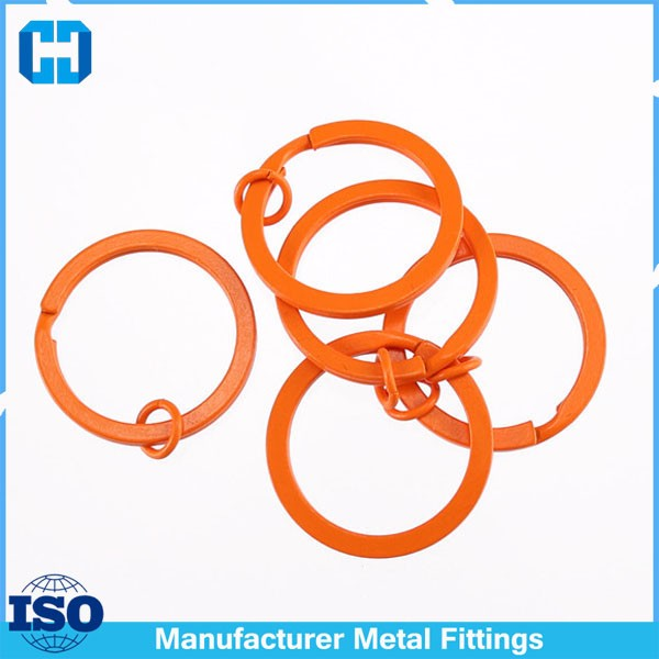 orange split key ring