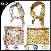 GDA0054 High quality custom lovely square scarf,digital print custom design silk satin scarf