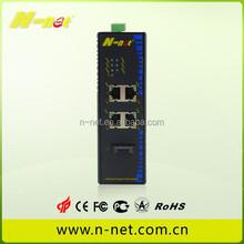 Industrial 1000Base-SX/LX to 1000Base-T PoE Media Convert 4port RJ45 80km