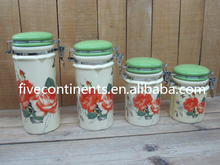 Multi-use Ceramic Sealable Canister/ Airtight Kitchen Container Set