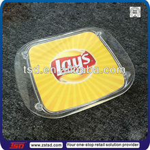 TSD-A730 China factory direct supply Clear plastic tip tray/acrylic cash / money / coin tray