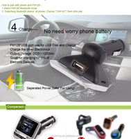 High Quality Mobile Phone Car Mp3 Player FM Transmitter Android,Support USB and TF Card