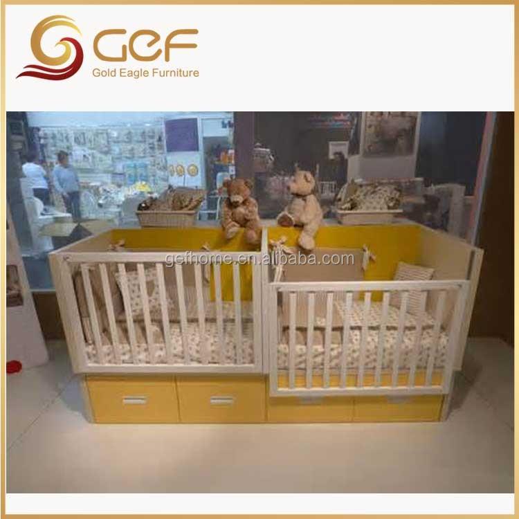 los gemelos bebes cuna de madera cuna cama para los gemelos gefbb