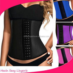 2015 colorful steel boned latex factory corset shaper