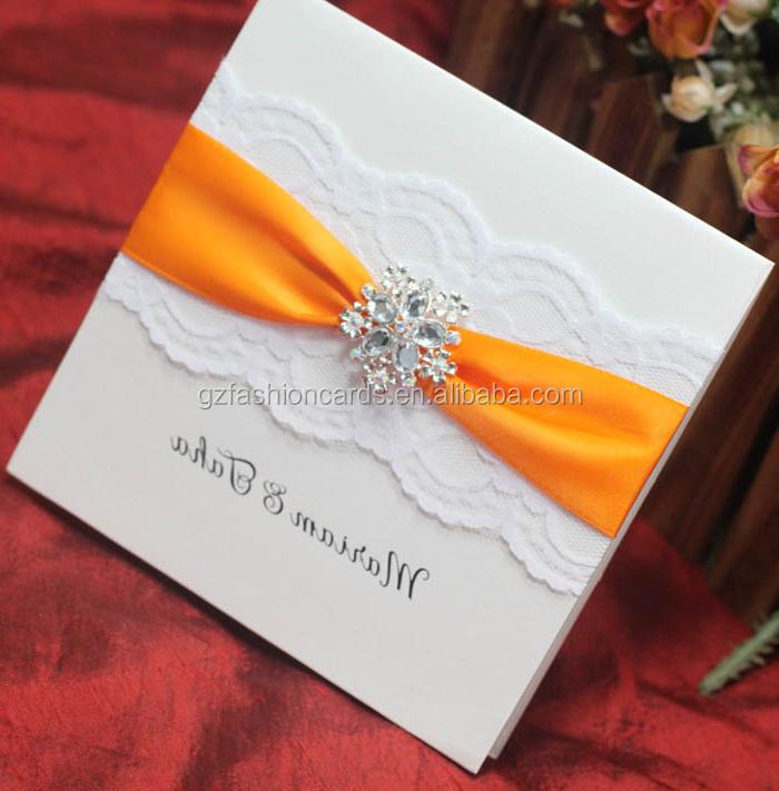 Luxury Lace Handmade Wedding Invitation Card Designs - Buy Handmade ...