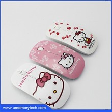 Hello kitty style wireless mouse/mouse wireless 5 million cycles wireless mouse without battery