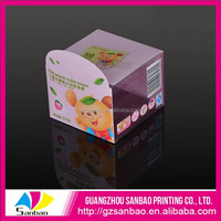 Custom Cube Folded collapsible pvc small plastic Clear Box